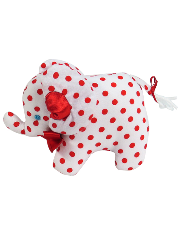 Red Dot Mini Elephant Baby Toy by Kate Finn Australia