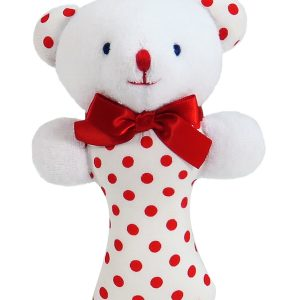 Red Dot Bear Baby Rattle by Kate Finn Australia