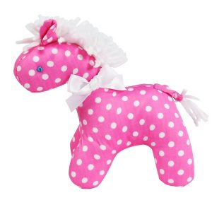 Pink White Dot Mini Horse Baby Toy by Kate Finn Australia