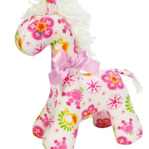 Pink Snowflake Horse Baby Toy by Kate Finn Australia