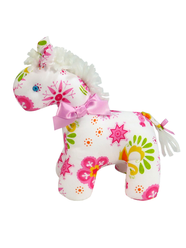 Pink Snowflake Mini Horse Baby Toy by Kate Finn Australia
