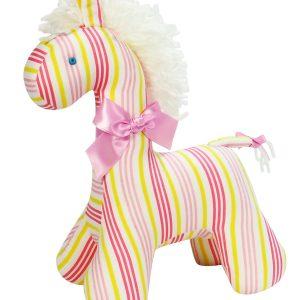 Peach Stripe Horse Baby Toy by Kate Finn Australia