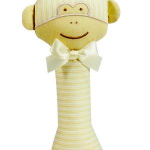 Caramel Monkey Baby Rattle by Kate Finn Australia