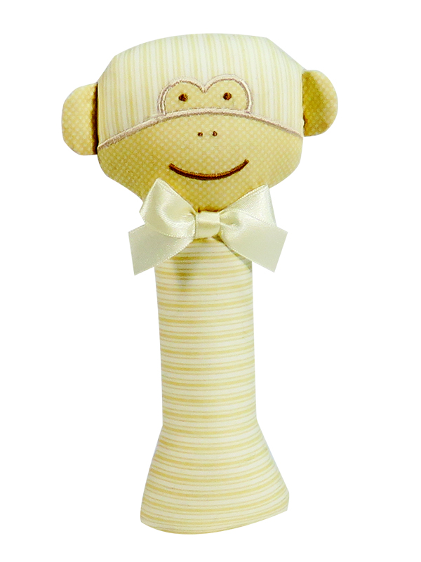 Caramel Monkey Baby Rattle by Kate Finn Australia