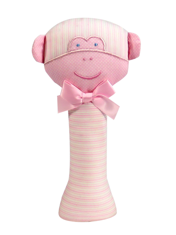 Pink Monkey Baby Rattle by Kate Finn Australia