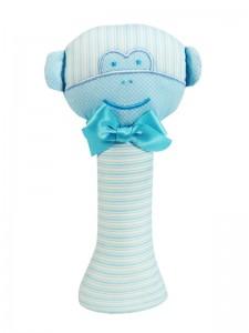Aqua Monkey baby Rattle by Kate Finn Australia