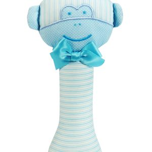 Aqua Monkey baby Rattle by Kate Finn Australia