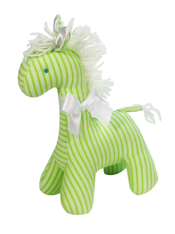 Lime Ticking Horse Baby Toy by Kate Finn Australia