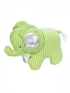 Lime Ticking Elephant Baby Toy by Kate Finn Australia