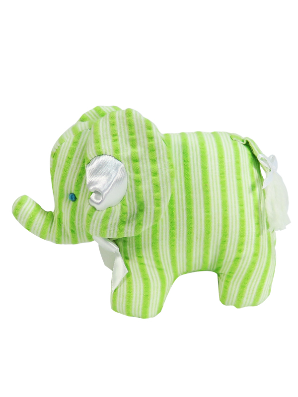 Lime Ticking Mini Elephant Baby Toy by Kate Finn Australia