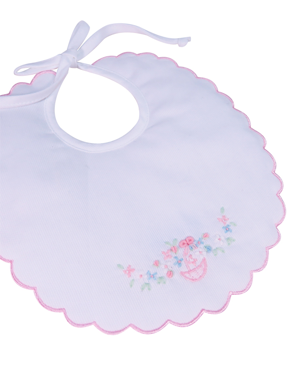 Baby Bib Floral Basket Designed by Kate Finn