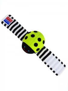 Lime Beetle Wrist Rattle Baby Toy by Kate Finn Australia