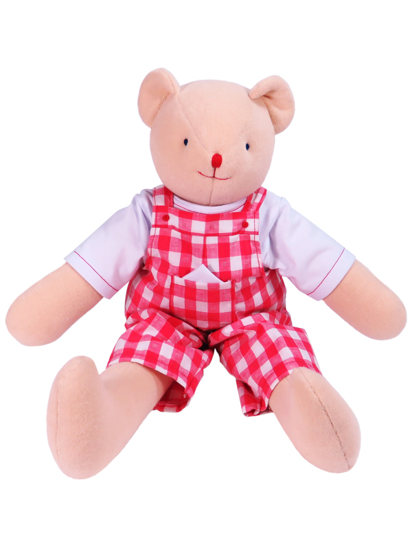 Timmy 48cm Bear Tomato Check