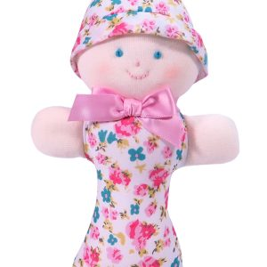 Pink Bouquet Dolly Baby Rattle by Kate Finn Australia