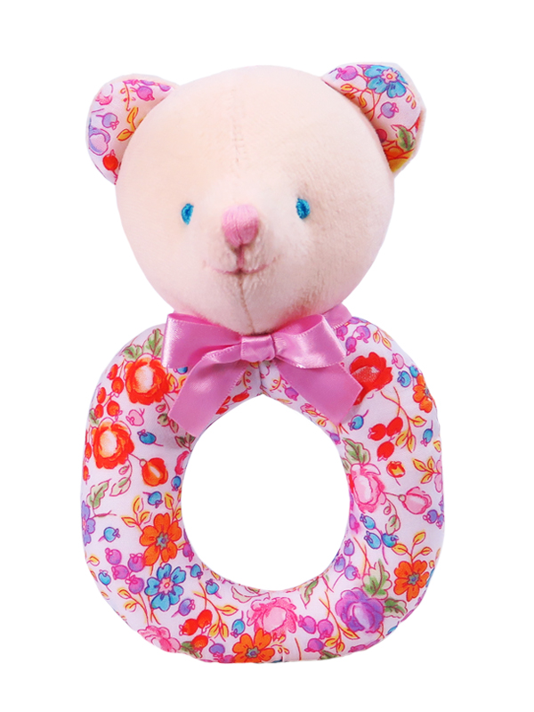 Pot Pourri Bear Baby Ring Rattle
