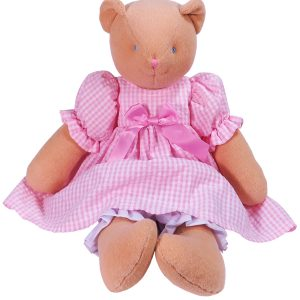 Tulip 48cm Bear Pink Check by Kate Finn Australia