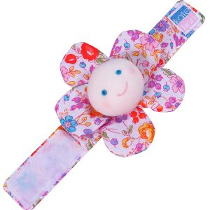 Pot Pourri Flower Wrist Rattle Baby Toy by Kate Finn Australia