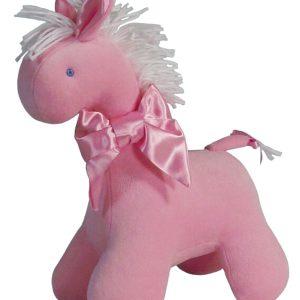 Pink Velvet Horse Baby Toy by Kate Finn Australia