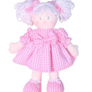 Sweetie 28cm Rag Doll Pink Designed by Kate Finn