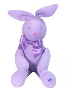 Lavender Velvet Bunny Baby Toy by Kate Finn Australia