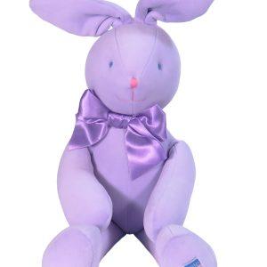 Lavender Velvet Bunny 45cm Baby Toy by Kate Finn Australia