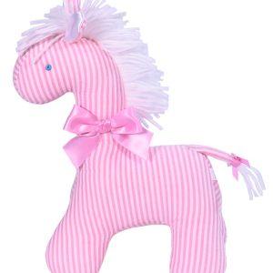 Pink Seersucker Stripe Horse by Kate Finn Australia