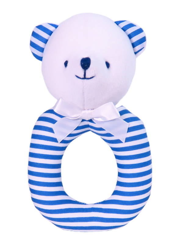 Royal Stripe Bear Ring Rattle by Kate Finn Australia