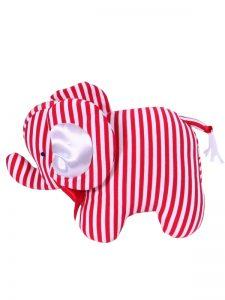 Red Stripe Elephant Baby Toy by Kate Finn Australia