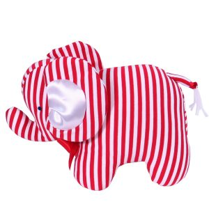 Red Stripe Elephant Baby Toy by Kate Finn Australia