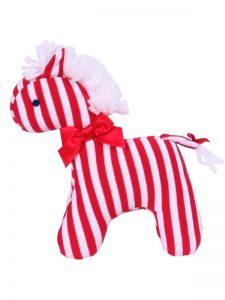 Red Stripe Mini Horse Baby Toy by Kate Finn Australia