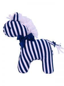 Navy Stripe Mini Horse Baby Toy