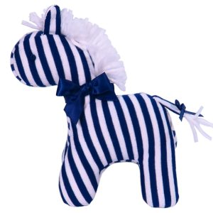Navy Stripe Mini Horse Baby Toy