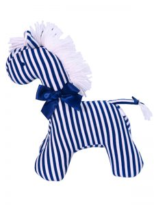 Navy Stripe Horse Baby Toy by Kate Finn Australia