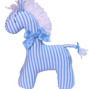 Blue Stripe Horse Baby Toy by Kate Finn Australia