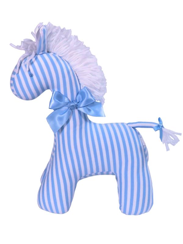 Blue Stripe Horse Baby Toy by Kate Finn Australia