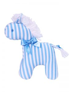 Blue Stripe Mini Horse Baby Toy