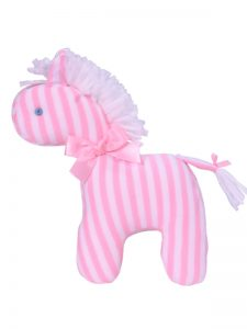 Pink Stripe Mini Horse Baby Toy by Kate Finn Australia