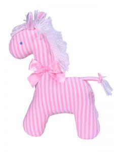 Pink Stripe Horse Baby Toy by Kate Finn Australia