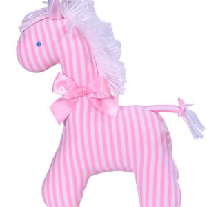 Pink Stripe Horse Baby Toy by Kate Finn Australia