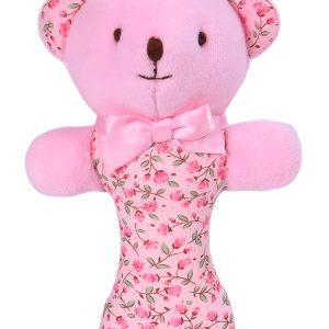 Rosebud Bear Baby Rattle by Kate Finn Australia