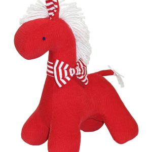Red Corduroy Horse Baby Toy by Kate Finn Australia