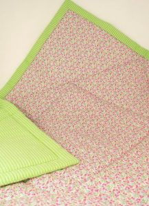 Fuchsia Meadow Cot Quilt by Kate Finn Australia