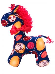 Football Horse Baby Toy Sold by Kate Finn Australia