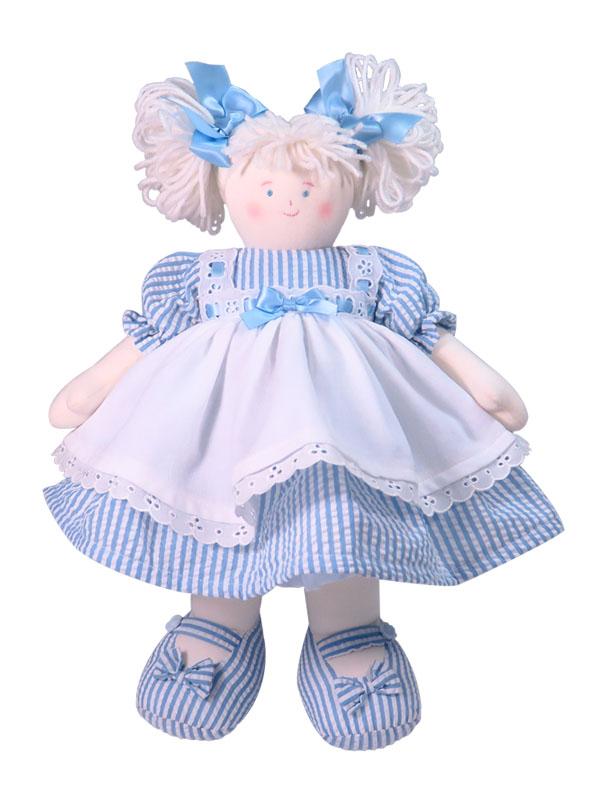 Bonnie 41cm Rag Doll Blue Designed by Kate Finn