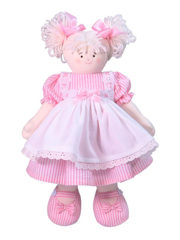 Bonnie 41cm Rag Doll Pink Designed by Kate Finn