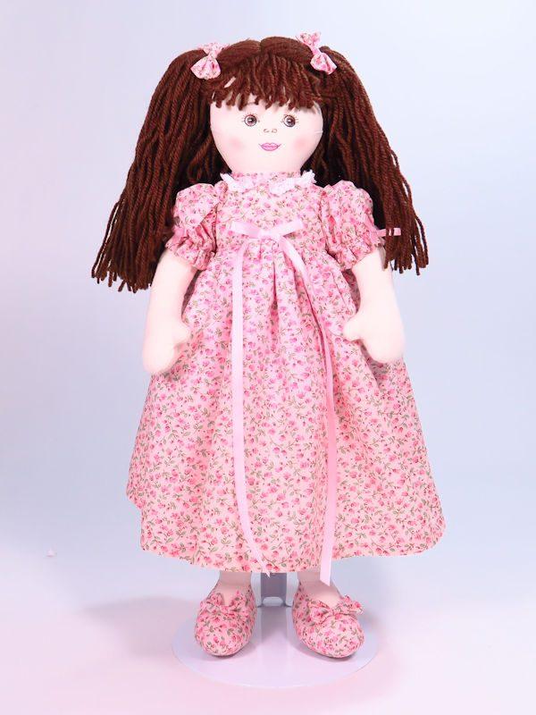 Charlotte 47cm rag Doll Designed and Sold by Kate Finn Australia