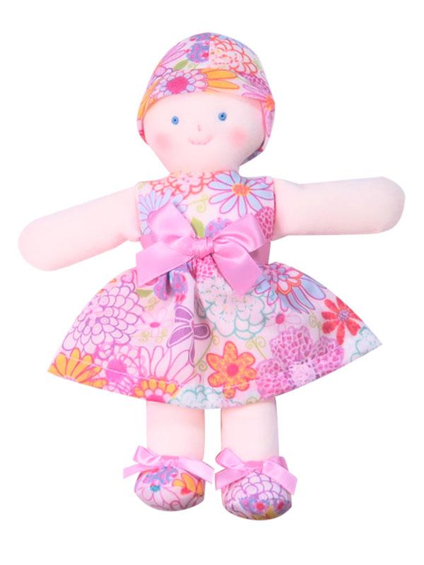 Minnie 21cm Rag Doll Daisy Print Sold by Kate Finn