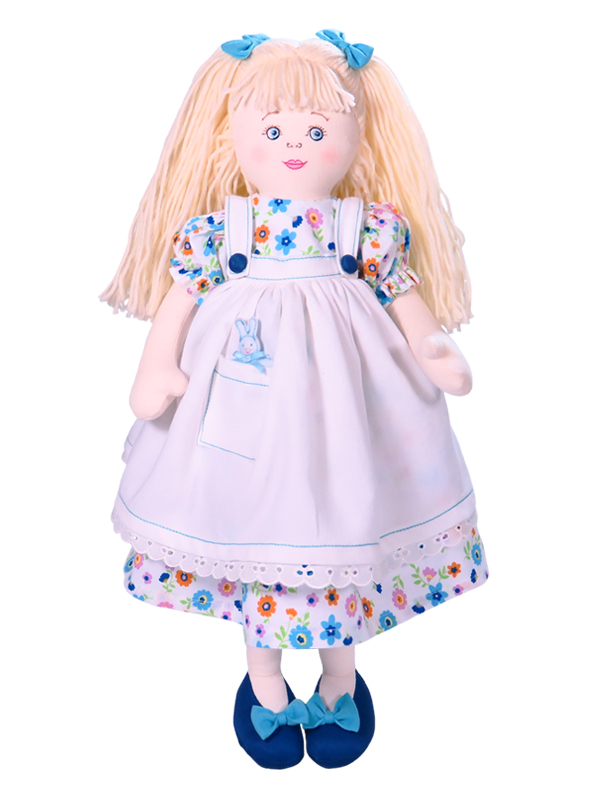 Alice 47cm Rag Doll Blue Designed by Kate Finn