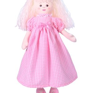 Susannah 47cm Rag Doll Pink by Kate Finn