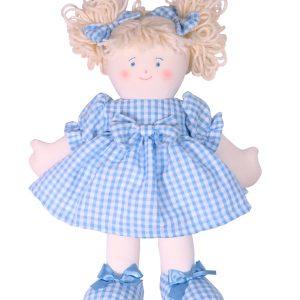 Sweetie 28cm Rag Doll Blue Designed by Kate Finn